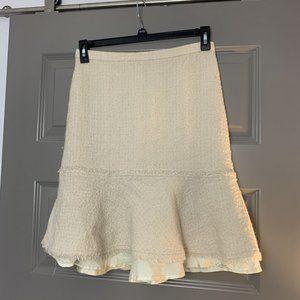 J.Crew Ivory Tweed Flared Hem Skirt 4
